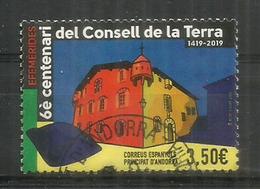 El Consell De La Terra Celebra 600 Anys (1419) ! HAUTE FACIALE.  2019, Oblitéré 1 ère Qualité - Used Stamps