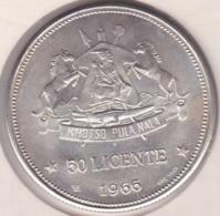 Lesotho 50 Licente 1966, Moshoeshoe II , En Argent .KM# 4.1 - Lesotho