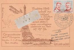 91 - PORT-AVIATION - Cinquantenaire De La 1ère Quinzaine D' Aviation  Du 3 Au 17 Octobre 1909 , Le 18 Octobre 1959 - Covers & Documents