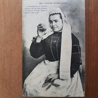 Pont-l'Abbé.la Bigoudene Au Pays Des Pommes.coiffe Costume Breton.édition Duclos 1045 - Pont L'Abbe