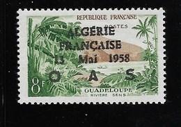 "8F Gyadeloupe, Surch. ""ALGERIE FRANCAISE 13 MAI 1958 OAS"", Timbre ** - Algérie (1962-...)"