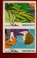 Chromo Image Double Chocolat Poulain Série 253 N° 5 Série 266 N° 69 - Lion Gazelle Ami Chien ... - Poulain