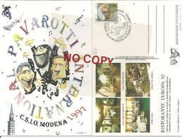 Modena 21.6.1997, Concerto Pavarotti, Domingo, Carreras, CSIO. Cartolina Ufficiale. - Cantanti E Musicisti