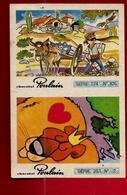 Chromo Image Double Chocolat Poulain Série 274 N° 106 Série 253 N° 2 - âne Lion Gazelle ... - Poulain