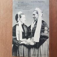 Pont-l'Abbé Ou Environs.au Pardon.jeunes Filles Bigoudenes.coiffe Costume Breton.édition Dugas - Pont L'Abbe