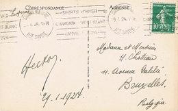 OLYMPIC / JEUX OLYMPIQUES Chamonix 1924 Janvier 29 Bobsleigh, Oblitérée Pendant Les Jeux - Chamonix-Mont-Blanc