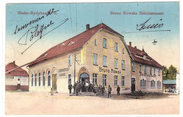 POLOGNE - Nieder-Rydultau, O.-S. - Rydułtowy - Bruno Nowaks Etablissement - Ed. Carl Rindfleisch, Gleiwitz - Polen