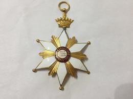 MEDAGLIA PLACCA SMALTATA VII ESPOSIZIONE GENOVA 1901 GRAN DIPLOMA D'ONORE - Italia