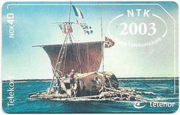 Norway - Telenor - Kon-Tiki Ship - N-252B - (MEDLEMSKORT 2003 ISSUE), 23U, 350ex, Mint (Check Photos!) - Norvège