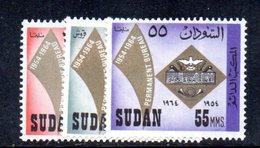 APR1478 - SUDAN SOUDAN 1964 , Yvert N. 171/173  ***  MNH  (2380A)  Upa - Sudan (1954-...)