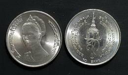 Thailand Coin 10 Baht 1982 50th Birthday Queen Sirikit Y154 UNC - Thailand