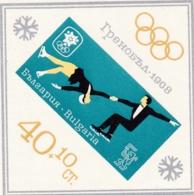 Bulgarien, 1967,  Block 20,  Olympische Winterspiele 1968, Grenoble. MNH ** - Hojas Bloque
