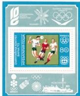 Bulgarien, 1973, 2265 Block 42 A, MNH **, Olympische Sommerspiele, Fußball. - Hojas Bloque