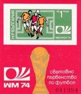 Bulgarien, 1974, 2332 Block 47 A, MNH **, Fußball-Weltmeisterschaft, BR Deutschland - Blokken & Velletjes