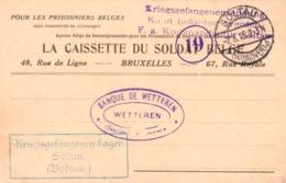 La Caissette Du Soldat Belge Soltau Banque De Wetteren Sensuur - Prisonniers