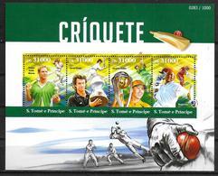 SAINT THOMAS ET PRINCE  Feuillet N° 5159/62  * *  ( Cote 20e )  Criket - Cricket
