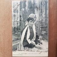 Jeune Fille De Pont L'abbé.bigoudene En Coiffe Et Costume Breton.édition Artaud Et Nozais 90 - Pont L'Abbe