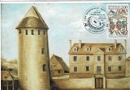 TP  2492 Sur Carte Postale Du Château De Mortain Avec Cachet Spécial Des Châteaux Normands - Marcofilie (Brieven)
