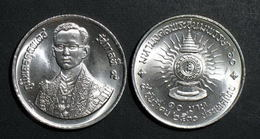 Thailand Coin 10 Baht 1987 60th Birthday Ok King Rama 9 Y196 - Thailand