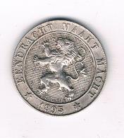 5 CENTIMES 1895 VL BELGIE /4865/ - 1865-1909: Leopold II