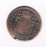 25 CENTIMES 1833 BELGIE /4866/ - 02. 2 Centimes