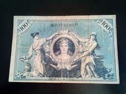 GERMANY ALLEMAGNE DEUTSCHLAN 100 Mark 1908 - [ 2] 1871-1918 : German Empire
