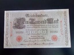 GERMANY ALLEMAGNE DEUTSCHLAND 1000 Mark 1910 - [ 2] 1871-1918 : German Empire
