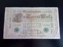 GERMANY ALLEMAGNE DEUTSCHLAND 1000 Mark 1910 - [ 2] 1871-1918 : Empire Allemand