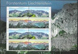 LIECHTENSTEIN, 2019, MNH,MOUNTAINS, PANORAMA, SHEETLET OF 2 SETS, NICE! - Geology