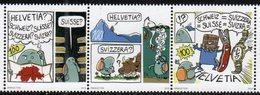 SWITZERLAND, 2019, MNH,FUMETTO COMIC FESTIVAL, MOUNTAINS, BIRDS, COWS, COMICS,3v - Comics