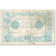 France, 5 Francs, Bleu, 1916, 1916-04-05, B, Fayette:2.38, KM:70 - 1871-1952 Circulated During XXth