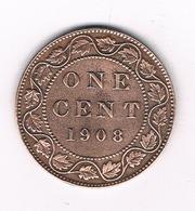 ONE PENNY 1908 CANADA /4872/ - Canada