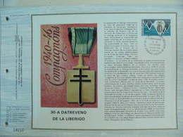Feuillet CEF En Esperanto Tirage 500 Ex - N° 280 Libération - WW2 (II Guerra Mundial)