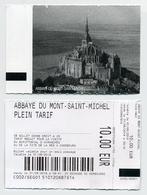 Ticket D'entrée / Entrance Ticket / Enterbewijs / Ulaznica - Abbaye Du Mont Saint-Michel, France - 2019 - Tickets D'entrée