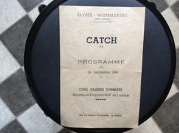 PROGRAMME  CATCH AMATEUR  Élysée-Montmartre  F.S.P.  DECEMBRE 1949 - Programs