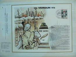Feuillet CEF En Esperanto Tirage 500 Ex - N° 352 Verdun - Guerre Mondiale (Première)