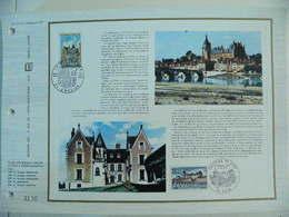 Feuillet CEF En Esperanto Tirage 500 Ex - N° 244 Pont Et Chateau D'Amboise - Puentes