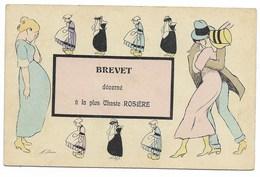 X. SAGER-BREVET Décerné à La Plus Chaste ROSIERE...1913  (pli) - Sager, Xavier