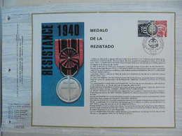 Feuillet CEF En Esperanto Tirage 500 Ex - N° 295 Médaille De La Résistance - WW2 (II Guerra Mundial)