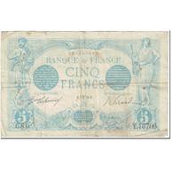 France, 5 Francs, Bleu, 1916, 1916-03-07, B+, Fayette:2.37, KM:70 - 1871-1952 Circulated During XXth