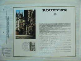 Feuillet CEF En Esperanto Tirage 500 Ex - N° 344 Horloge De Rouen - Relojería