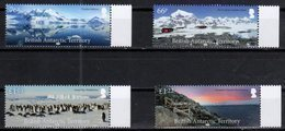 BRITISH ANTARCTIC TERRITORY, BAT,  2018, MNH, ANTARCTIC LANDSCAPES, MOUNTAINS, PENGUINS, 4v - Polar Philately