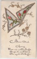 Carte Brodée - Joli Papillon - Ricamate