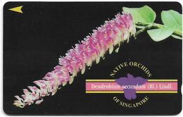 Singapore - Dendrobium Secundum, Orchids, 67SIGC, 1995, 250.000ex, Used - Singapore
