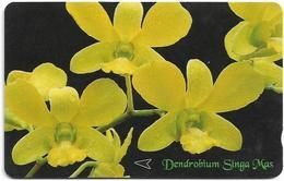 Singapore - Dendrobium Singa Mas, Orchids - 83SIGA - 1996, 550.000ex, Used - Singapore