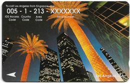 Singapore - Los Angeles, Call USA, 34SIGO, 1994, 350.000ex, Used - Singapore