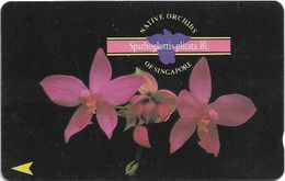 Singapore - Spathoglottis Plicata, Orchids, 67SIGE, 1995, 250.000ex, Used - Singapore