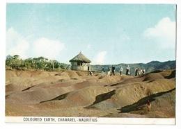 Coloured Earth, Chamarel - Mauritius - Circulé, Timbre, Mascarene Bul-bul, Merle - Mauricio