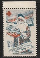 VIGNETTE - CROIX ROUGE - Noël 1916 - Union Des Femmes De France - Commemorative Labels