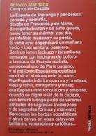 ANTONIO MACHADO - CAMPOS DE CASTILLA. USADO EN BUEN ESTADO - Poesía